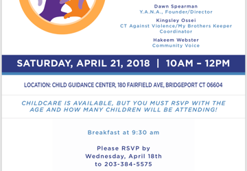 """Family ReEntry's Da'ee McKnight will be Moderating a Panel at """"Responses to Violence and Its Impact on the Community,"""" April 21, 2018"""
